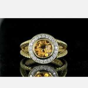 $3,250 David Yurman Albion 18K Yellow Gold Diamond